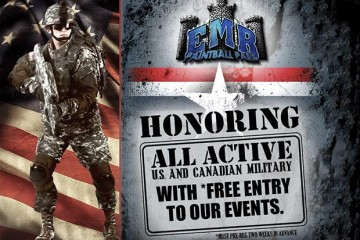 EMR Paintball Park Thanks our Active Military