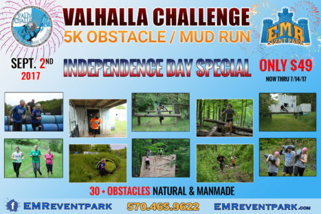 VALHALLA CHALLENGE 5K Obstacle and Mud Run